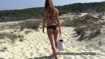 uber-sexy teenie naturist at beach
