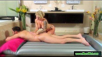 masseuse gives nuru humid rubdown 23