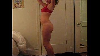 pinkish panty on youthfull nymph unwrap dancing - spankbangorg