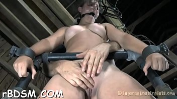 bounded sub angel is getting a lusty vag castigation
