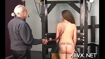 fetish hard-core action with nubile enslaved and trampy.