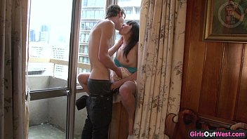 supah-cute youthful duo window romp