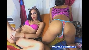 i caught my scorching she-masculine pals draining on webcam