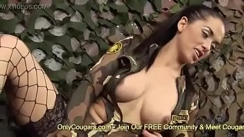 army honeys cindy behr and kaia kane pulverize.