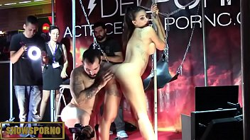 facial cumshot hair man penetrating epic ebony-haired on stage