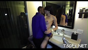 sensual transsexual vixen provides assfuck for.