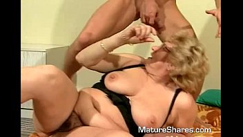 mature blonde gets her beaver eaten.