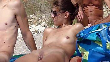 fledgling nude lady in beach iltb.