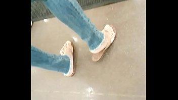 feet sandals tastey candid