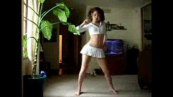 marvelous fledgling butt dance in microskirt.