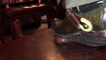 cowboy sir takes advantage of his slave039_s trunk.