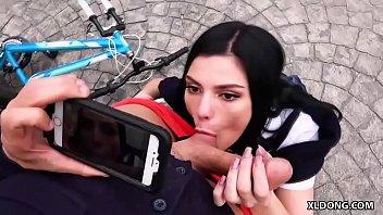 bike accident turns into drill-stick blowing - elena gilbert