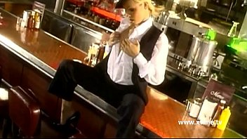 crimson-hot girl/girl maid on a pub enticed by.