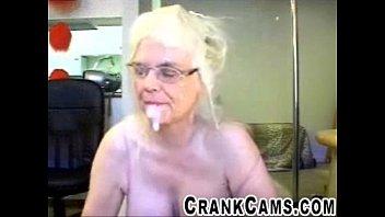 elderly deep throats plow stick and faux jizm.