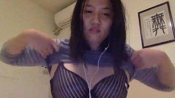wooly japanese bashful gal displays titties.