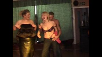timid femmes showcasing titties on stage