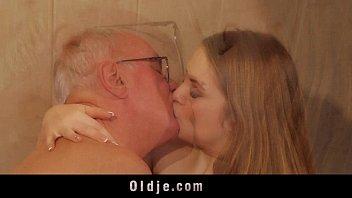 elder stud drills youthful blondie masseuse blows a.
