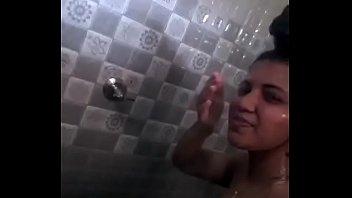 indian taking selfie movie in shower.
