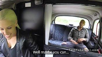 hefty boobs silver-blonde screws yam-sized schlong customer in cab