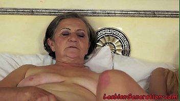 grandma rubbin' cootchie with smalltits stunner