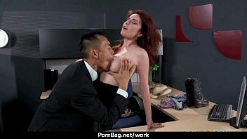 sexstar assistant analized in the office.