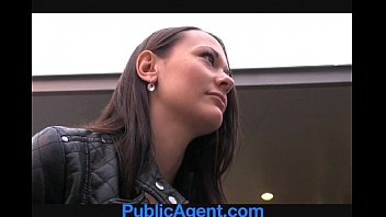 publicagent pretty dark-haired gets drilled in the middle.