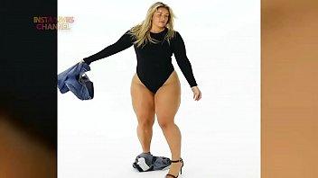 enormous booty mamasota poniendose cutoffs jeans.