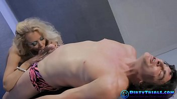 limber blond in hard-core activity