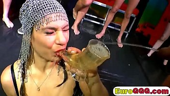 ultra-kinky euro whore drinks molten urinate and screws.