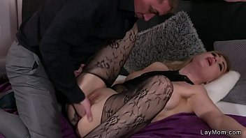 cougar in bodystocking boinks and splashes