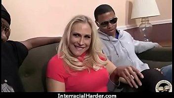 finger-kittling high stilettos hoe interracial dark-hued milky duo.