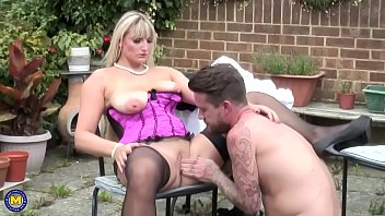 towheaded cougar gets pounded outdoor