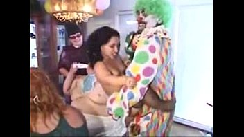 the clown the midget and the ample baby.