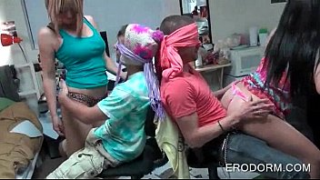 dormitory bedroom coeds liking fabulous lap dances at.