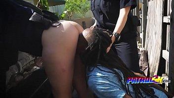 ash-blonde cops inhaling lengthy dark-hued pipe