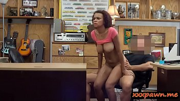 huge-titted inexperienced black honey gets railed by pawn keeper