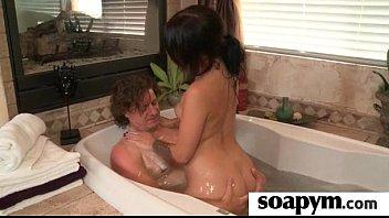 a very supah-hot soapy hand job.