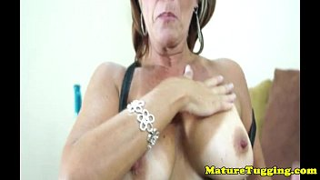 glam tanlined cougars close-up point of look hand-job joy