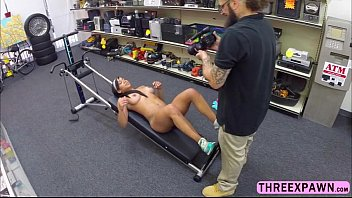 daring bulky gym trainer gives deep goes and.