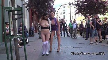 confine bondage & discipline whore ambled bare in public