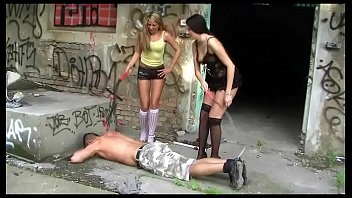 2 youthfull dominas in pantyhose and stilettos -.