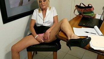 sneeking in an office ejaculation