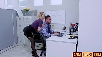 zoey monroe in bum-screw on office.