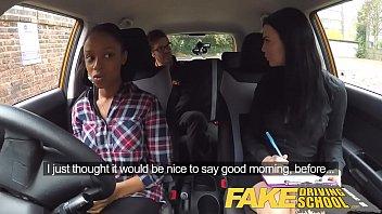 faux driving school giant-boobed ebony woman fails test.