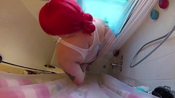 plus-size tgirl red-haired douche w beef whistle uncover teaser