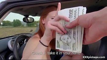 beauty czech fledgling teenager pummel tourist for money.