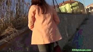 wild euro-cougar nails stranger in public.