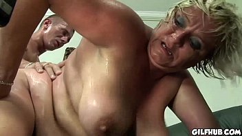 ample gilf gets her wooly cootchie porked by.