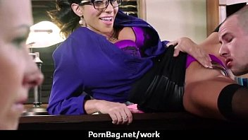 office fuck-a-thon with xxl-boobed chicks at.