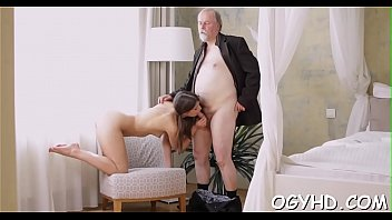 torrid youthful gal bonks older man